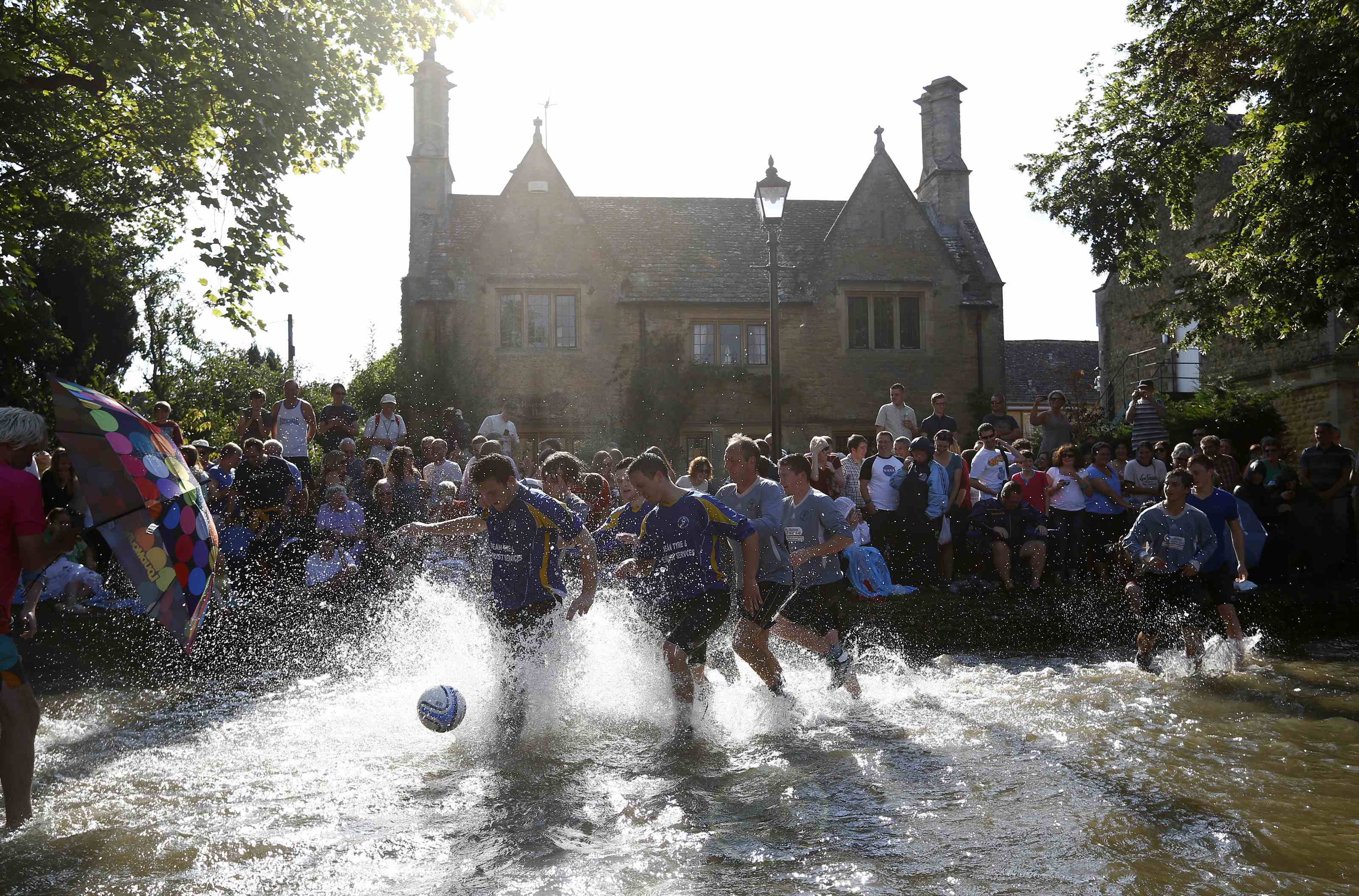 BOURTON FOOTBALL IN THE RIVER